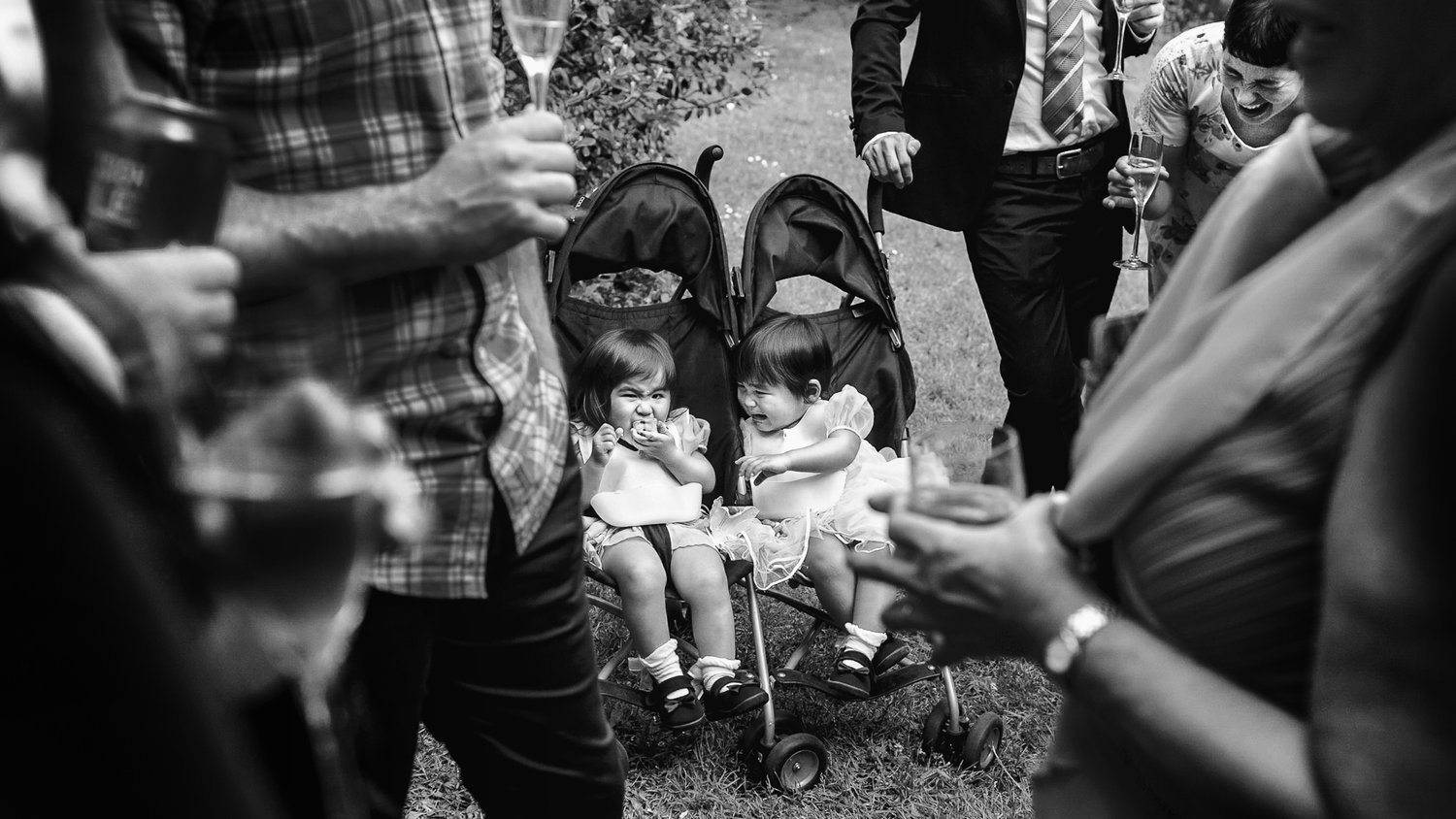 Toddlers at a wedding