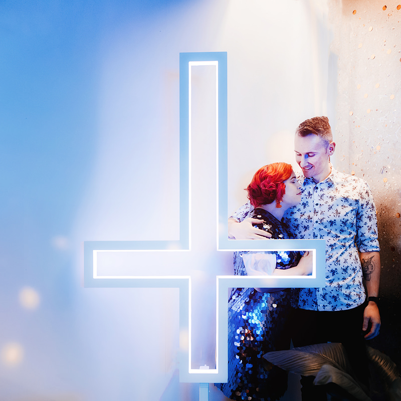 Neon Crucifix