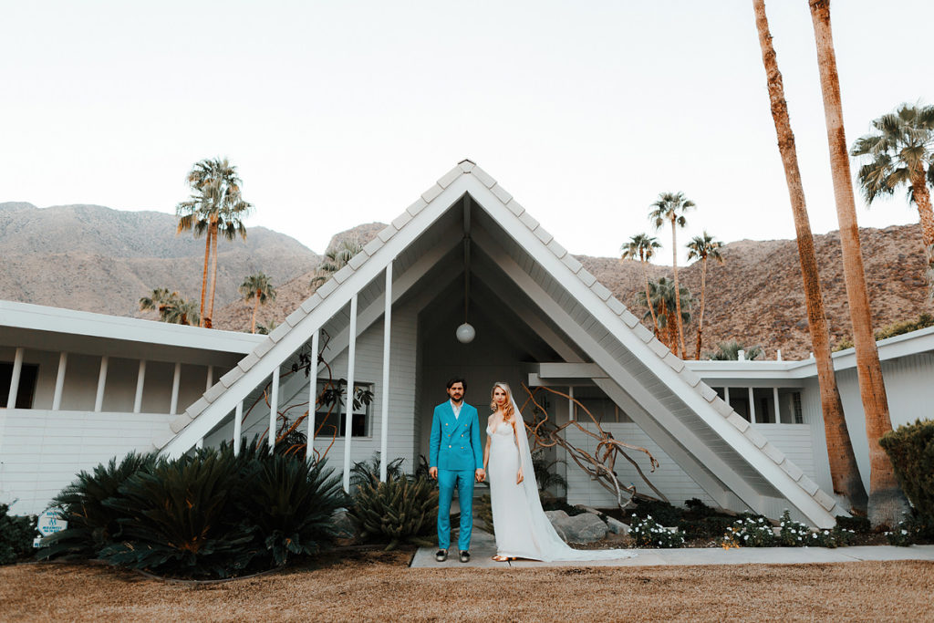 Wes anderson style wedding photography - palm springs wedding