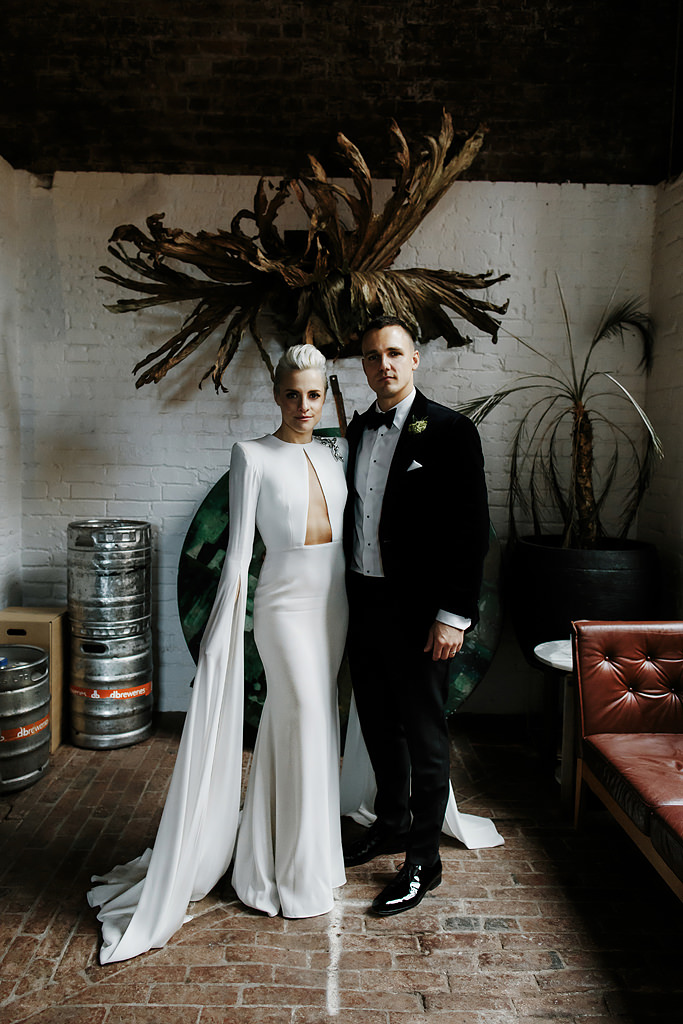 the incredible long sleeve wedding dress Melbourne designer