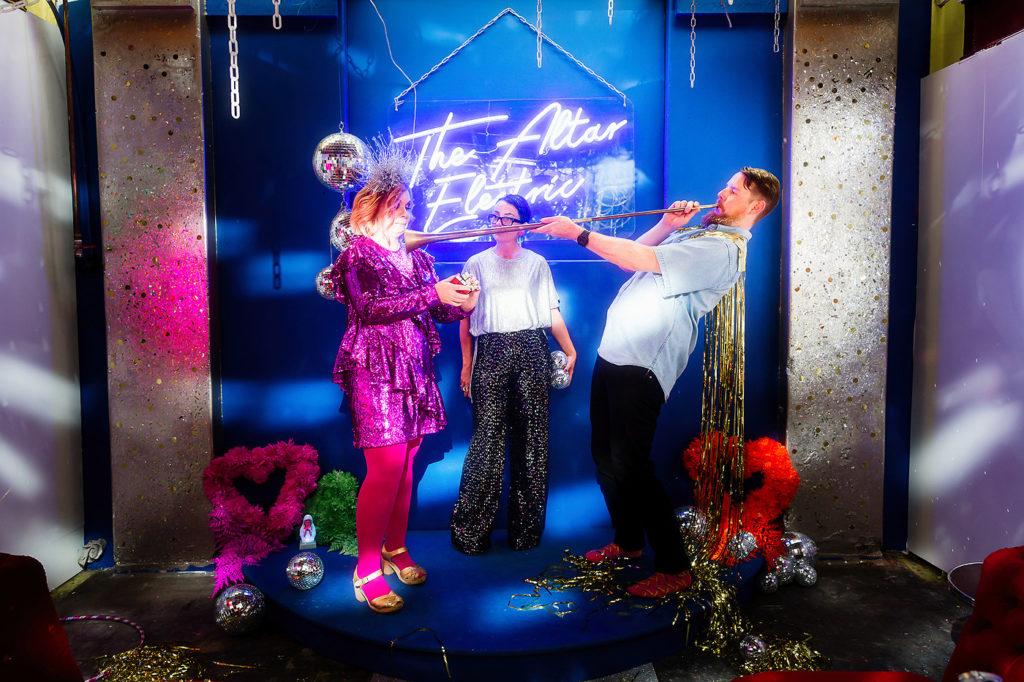 Good Day Club Wedding Styling Altar Electric