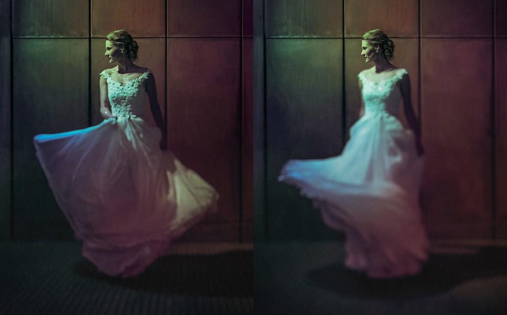 Melbourne arts centre wedding portrait