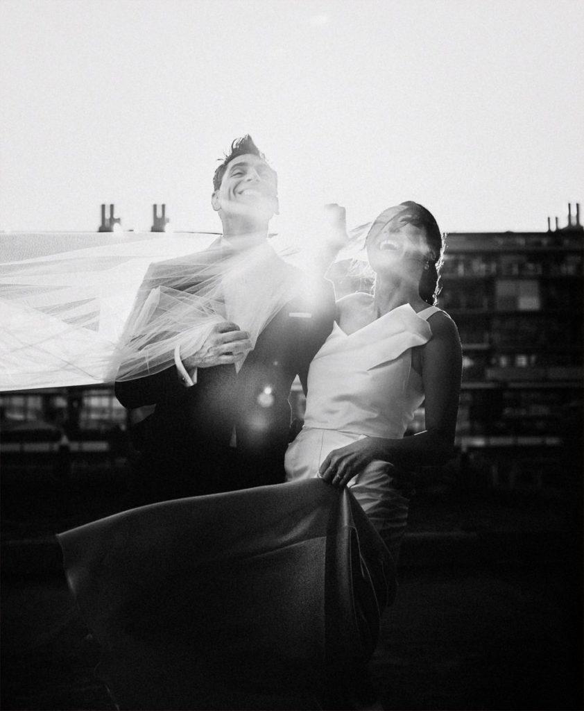 Sydney sunset wedding portrait