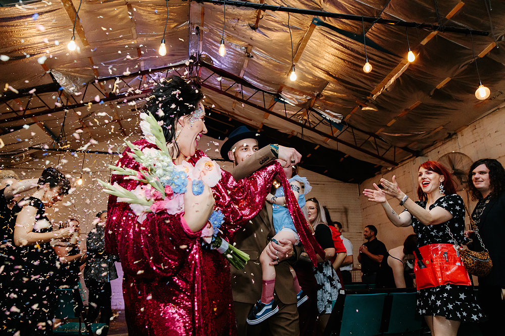 Pepe and Sams wedding at The Line, ft Confetti Toss