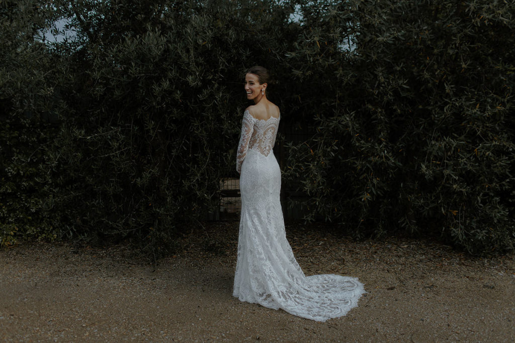 Suzanne Harward bridal gown at Newstead Butterland