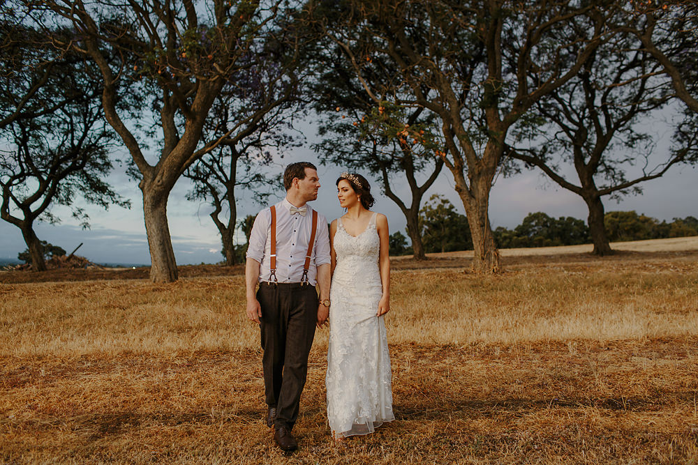 Quarry Farm trees wedding