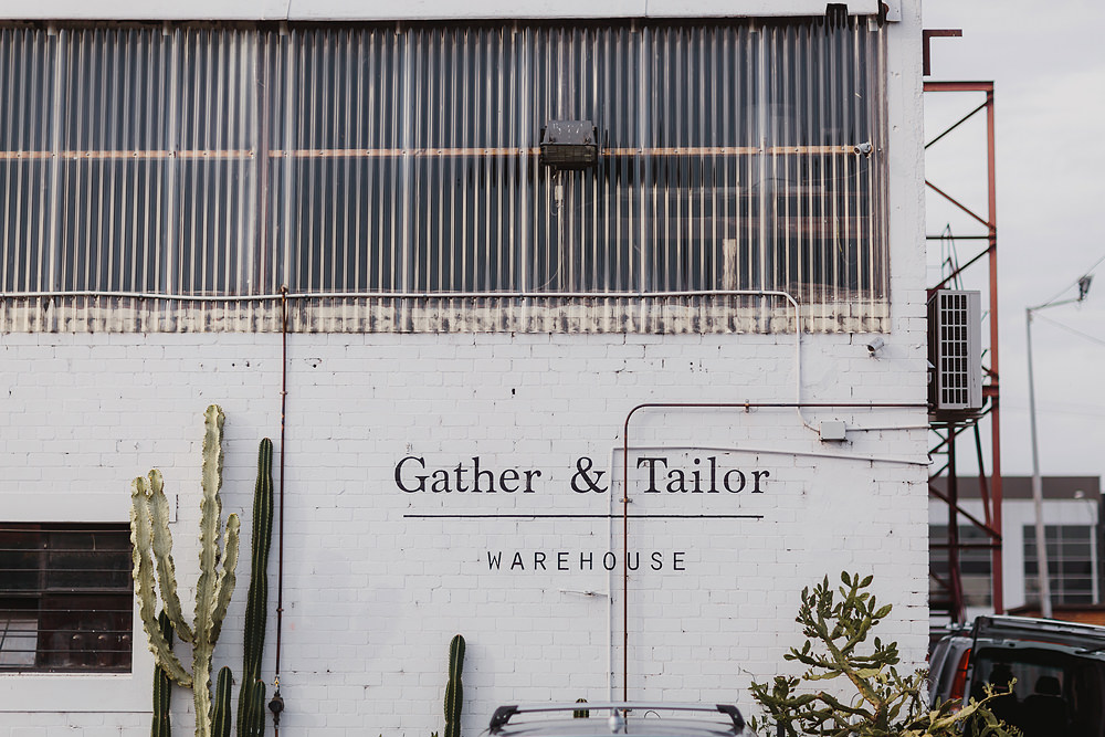Gather and Tailor wedding exterior