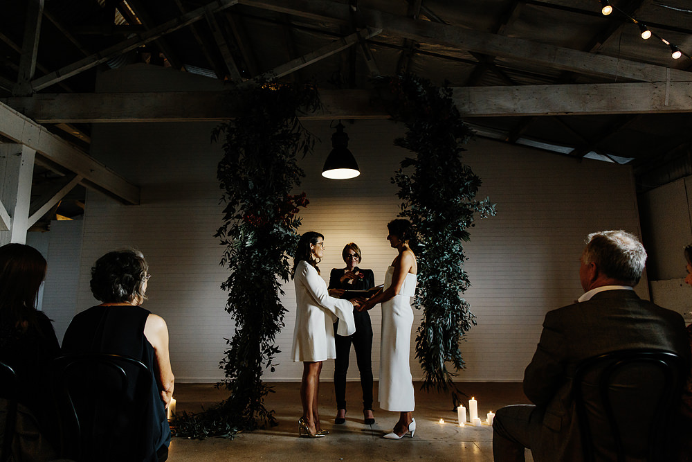 Gather and Tailor wedding ceremony