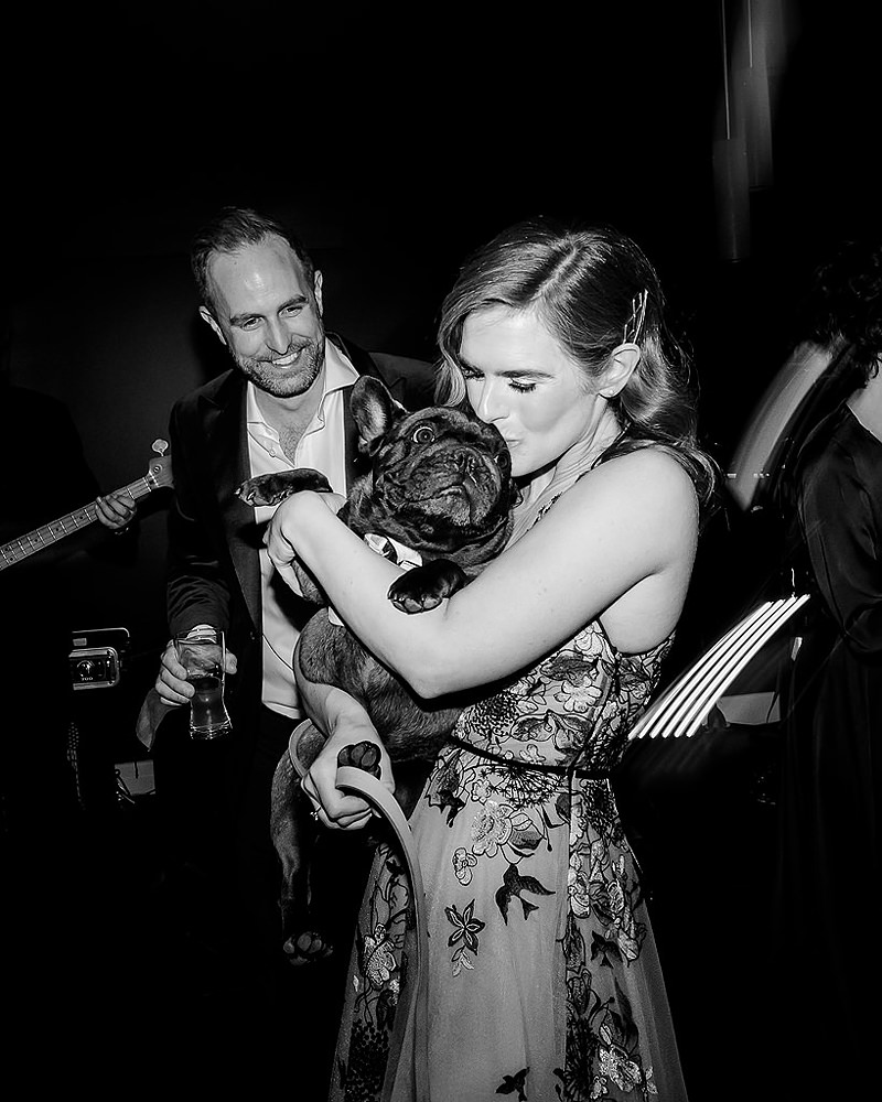 Bride with dog first dance