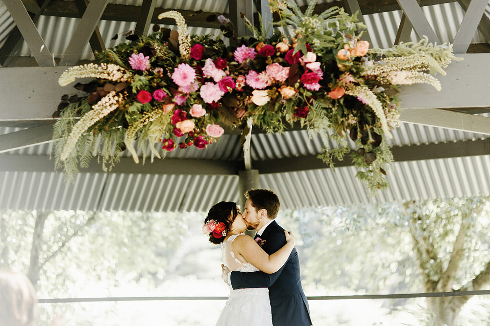 a photo of an immerse yarra valley wedding ceremony