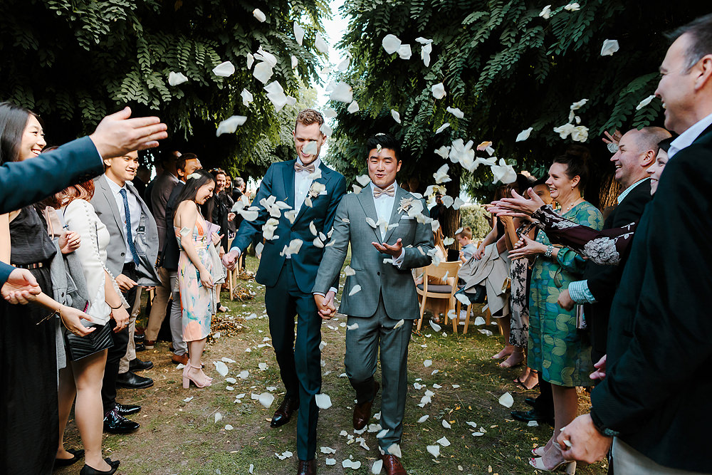 Yering Station Wedding Petal Toss