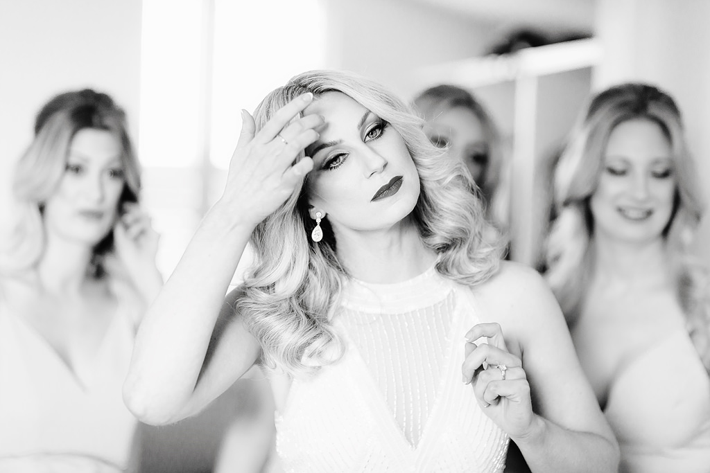 A photo of a bride before her wedding at Luminare South Melbourne