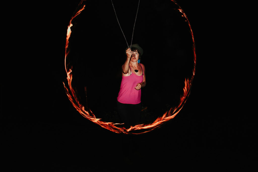 wedding fire twirl