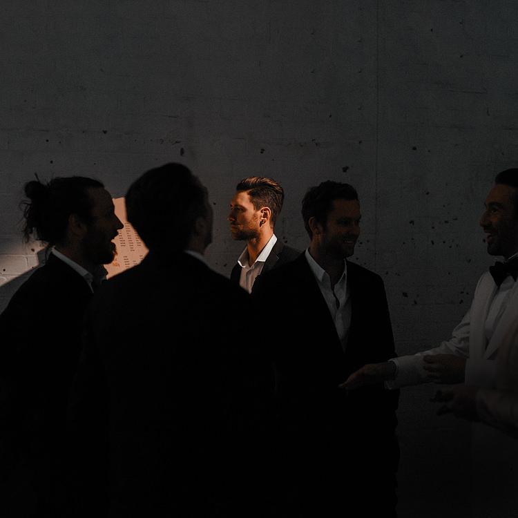 dark and moody wedding photos