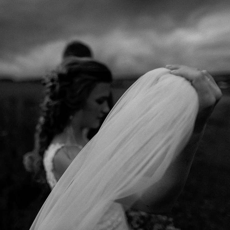 dark and moody wedding photos