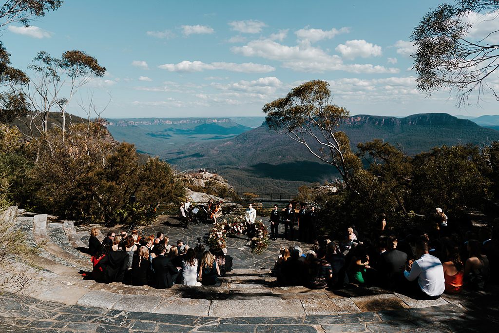 blue mountains wedding ceremony