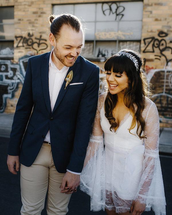 modern wedding jumpsuit