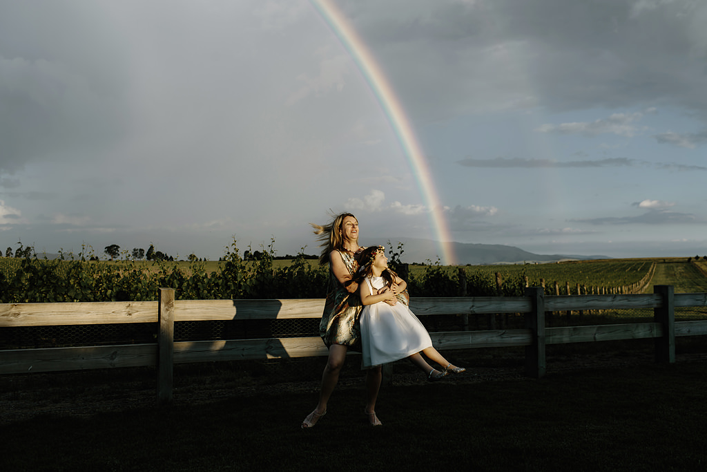a photo of zonzo estate at sunset, one of the best yarra valley wedding venues