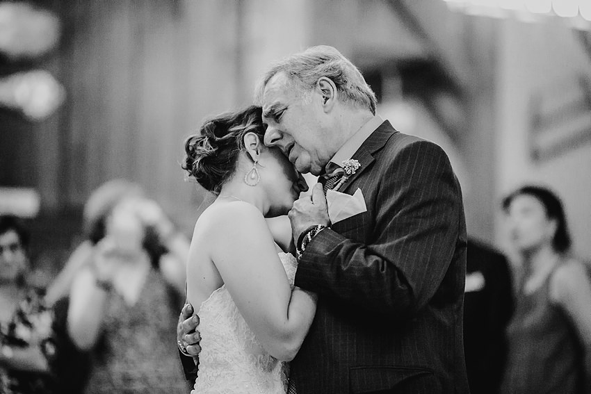 a photo of a father and daughter dance