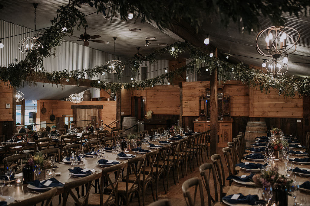 A wedding venue reception area near the mornington peninsula