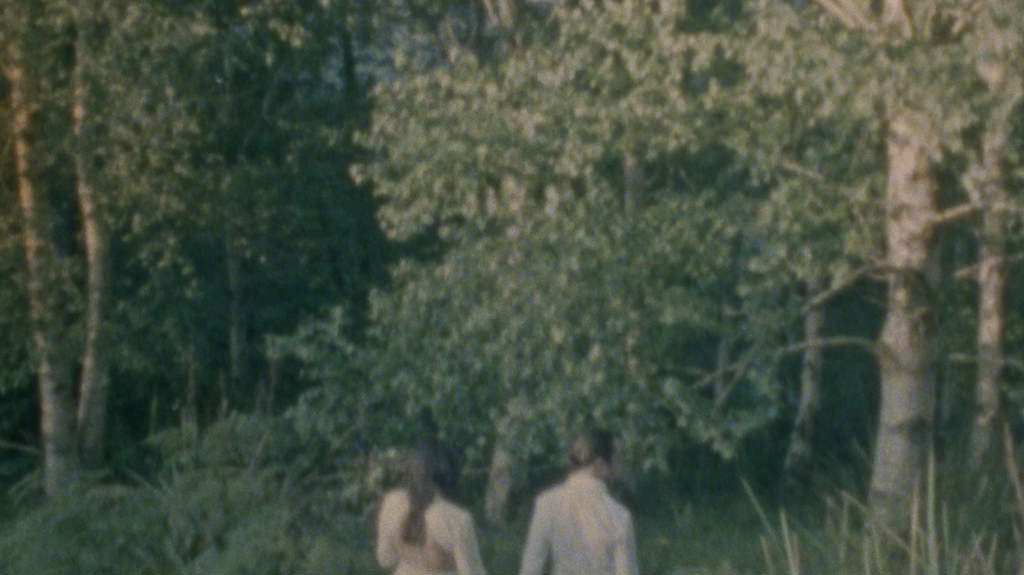 Super 8 wedding film - emma and ben in the forest
